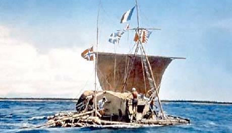 Kon Tiki- ekspedisjonen både starter og avslutter første bind av boken.