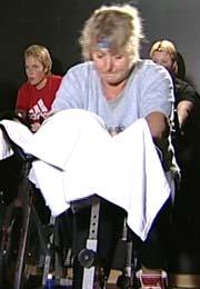 Elisabeth Monrad Moen trener mye og prøver å tenke positivt.