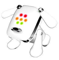 iDog danser og blinker i rytme til musikken din. Foto: iskins.co.uk.