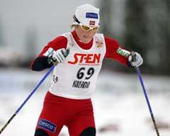 Hilde Gjermundshaug Pedersen på 10 km klassisk i Kuusamo. (Foto: Erlend Aas / SCANPIX)