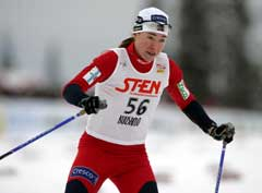 Ella Gjømle på 10 km klassisk i Kuusamo. (Foto: Erlend Aas / SCANPIX)