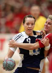 Kristine Lunde kjempet hardt for Norge, men kunne ikke hindre nimålstap. (Foto: Morten Holm / Scanpix)