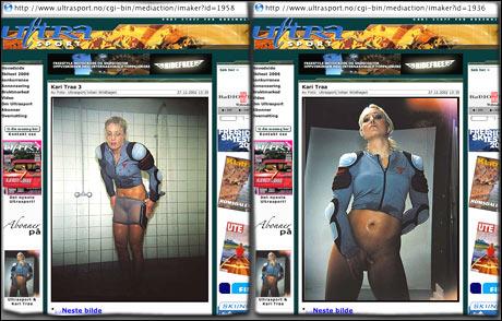 I 2002 publiserte magasinet Ultrasport en serie bilder av Kari Traa, uten sladder.