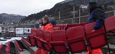 Brann Stadion riving. Foto: Alrik Velsvik/NRK: