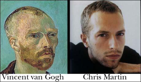 Chris Martin (fra gruppen Coldplay) og Vincent van Gogh. (Innsendt av Andreas Lien Simonsen)