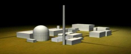 Grafisk fremstilling av atomreaktoren i Dimona. Foto: NRK, Brennpunkt