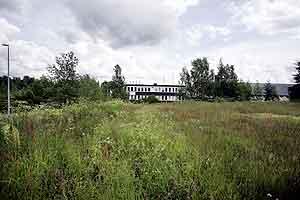 Tomten på Huseby med Njårdhallen som nærmeste nabo. (Heiko Junge, Scanpix)