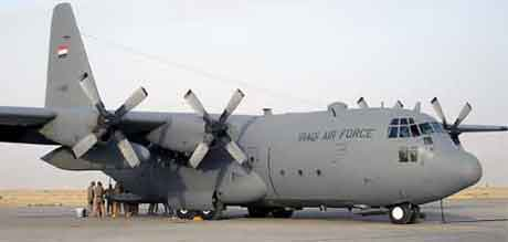 Det var et Hercules-fly av typen C-130 som styrtet i Teheran. (AFP/Scanpix)