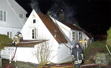 Brannvesenet hadde fort kontroll over brannen. Foto: Jan Ove Høgsveen