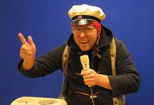 Toralv presenterer Nordpolnytt. Foto: Per Kristian Johansen, NRK