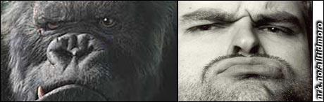 King Kongs ansiktsuttrykk og mangel på nakke har medført plagiatbeskyldninger fra Atle Antonsen. (Alltid Moro)