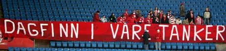 FFK-tilhengere med banner