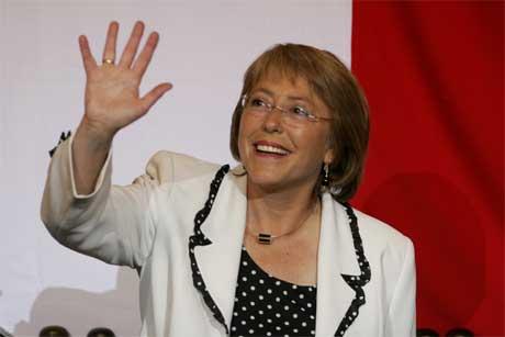 Den sosialdemokratiske kandidaten i Chiles presidentvalg Michelle Bachelet.(Foto:Scanpix)