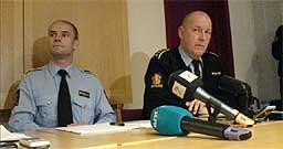 Politiadvokat Magnar Austerheim (t.v.) og stasjonssjef Nils Erik Eggen.