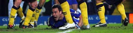 John Terry scoret målet da Chelsea slo Wigan 1-0 hjemme lørdag. (Foto: APF/ SCANPIX)
