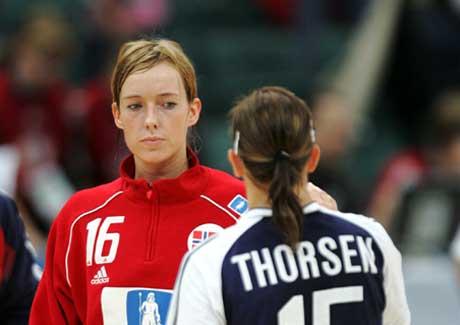 Katrine Lunde og Camilla Thorsen. (Foto: Morten Holm / SCANPIX)
