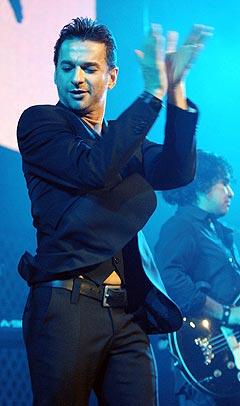 Dave Gahan og Depeche Mode spiller i Kristiansand 6. juli. Foto: Chris Pizzello, Reuters / Scanpix.