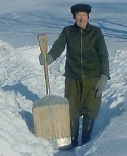 Gunnar Bergsrud som eide gården