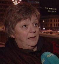 Leder for Fagforbundet i Oslo, Mari Sanden, sier hun er skuffet over Papes håndtering av ambassadesaken. Foto: NRK