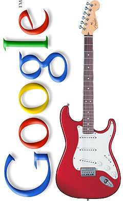 Google lager søketjeneste for musikkinformasjon. Fotofikling: NRK / Google / Fender.com.