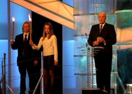 Kong Harald var også til stede på Idrettsgallaen for snart ett år siden. (foto: Scanpix)