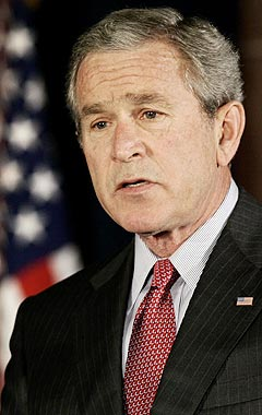 George W. Bush er antagelig ingen racer på iPod. Foto: Jim Young, Reuters / Scanpix.