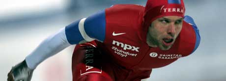 Eskil Ervik setter ny rekord på Myra (foto:Terje Bendiksby/Scanpix)