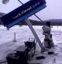 Pumpene fikk hard medfart. (Foto: Geir Olav Slåen, NRK)