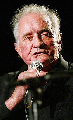 Johnny Cash 13. september 2002, under de første Americana Awards i Nashville. Foto: John Russel, AP Photo / Scanpix.