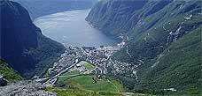 Ikkje alt går nedover i Høyanger. Foto: Gunnar Sigmar Håre.