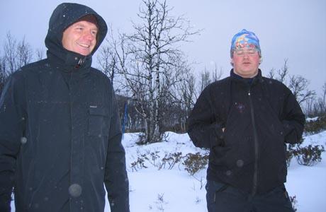 Terje Isungset og Pål Knudson Medhus. Foto: Gunnar Grimstveit, NRK.