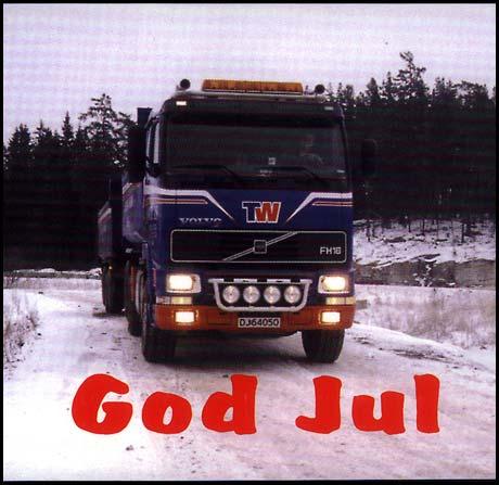 Julekortet det norske lastebilfirmaet TomWil sendte sine kunder nå i desember: Rett på sak, slik skal det gjøres! (Innsendt av NN)