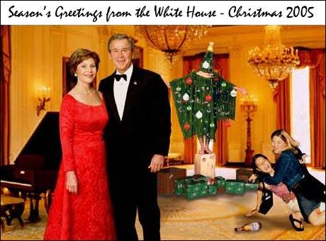 Denne er vi litt i tvil om er ekte, men sjekk det Irak-inspirerte juletreet i bakgrunnen.