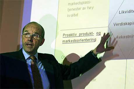 VIL HANDLE RÅVARER: Børsdirektør Sven Arild Andersen mener en norsk råvare- og energibørs har forutsetninger for å lykkes. Foto: Scanpix.