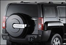 Et kromma bensinlokk er noe av det du får om du kjøper en Hummer H3x (Foto: REUTERS/General Motors Photo)