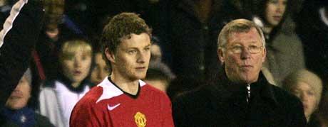 Alex Ferguson er storfornøyd med å se Ole Gunnar Solskjær tilbake på banen igjen. (Foto:Reuters/Scanpix)