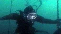Dykker i arbeid i Nordsjøen. Arkivfoto.
