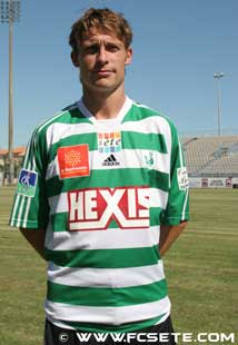 Franske Fabien Vidalon har vist seg som en viktig spiller for Moss fotballklubb. Foto: WWW.FCSETE.COM