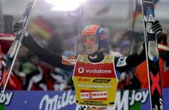 Janda Jakub jublet etter seieren. (Foto: Reuters/Scanpix)