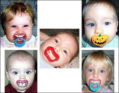 Februar 2006: Regjeringen imøtegår kritikken om at barn har dårlige levekår ved å starte produksjon av en ny type morsomme smokker.