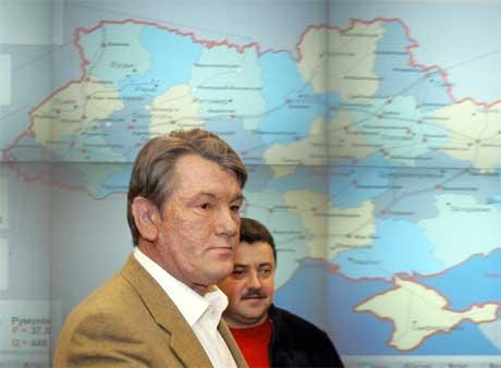 Ukrainas president Viktor Jusjtsjenko er bekymret over kuttet i leveransen av russisk gass. (Foto: Mykola Lazarenko/AFP/Scanpix)