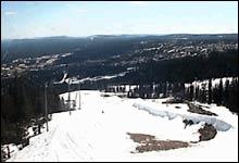 Slik så webkamera-bildet fra Trysil ut i dag (Foto: Skiinfo.no)