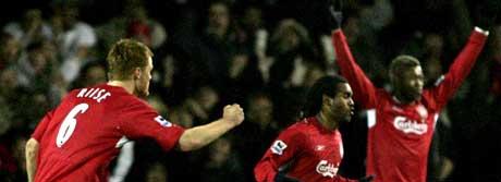 Liverpool var lenge ille ute mot Luton, men klarte tilslutt å ro iland en 5-3-seier. (Foto: AP)