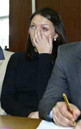 De tiltalte representerer et kriminelt system, sa enken, Miroslava Gongadze (Scanpix/AP)