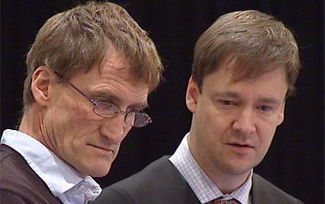 Erling Havnå med advokat John Christian Elden Foto: NRK