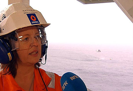 Plattformsjef Anita Stenhaug. Foto: NRK Trøndelag.