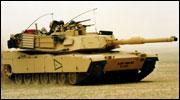 En M1 Abrams stridsvogn under en øvelse i Kuwait i 1998. (Foto: US Army)