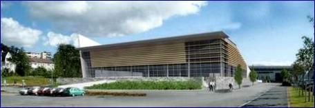 Det nye badeland på Reknes i Molde slik Kosbergs arkitektkontor har tegnet det.
