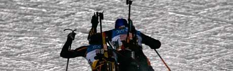Skiskytterstafett i Ruhpolding. (Foto: REUTERS / SCANPIX)