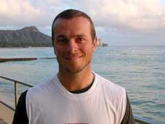 Henrik Bjørnstad på Hawaii.(Foto: Øystein Ingdahl/NRK)